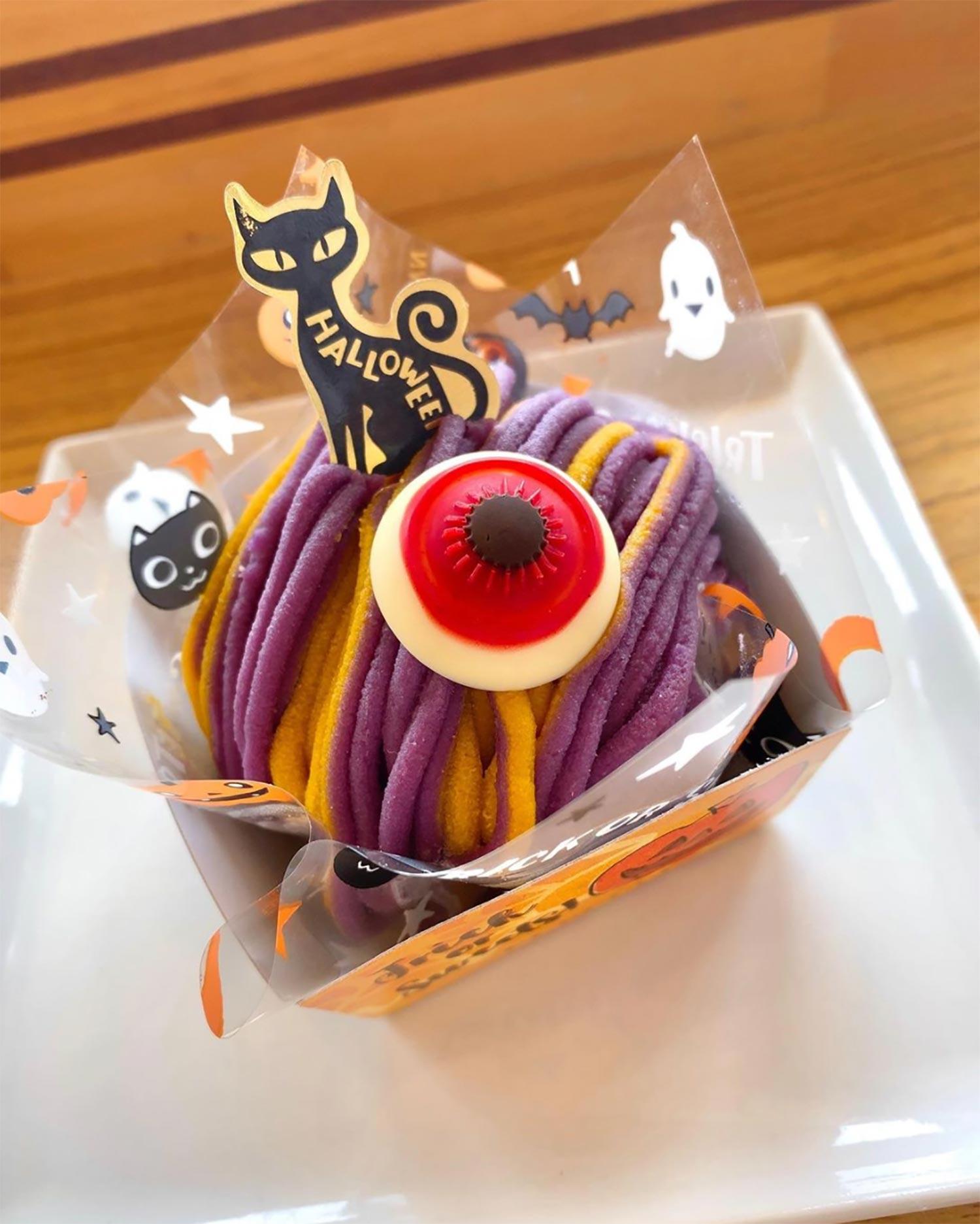 ハロウィン限定ケーキ「おばけモンブラン」