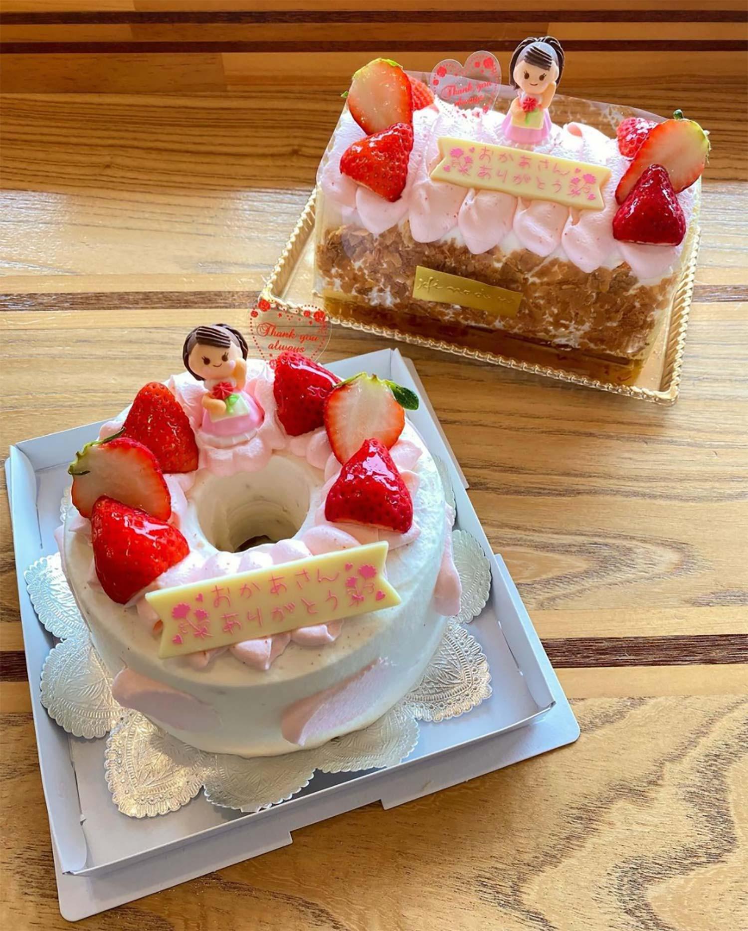 母の日限定「シフォンケーキ」「ロールケーキ」